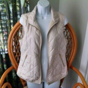 Old Navy Cream Quilted Puffer Vest S/P